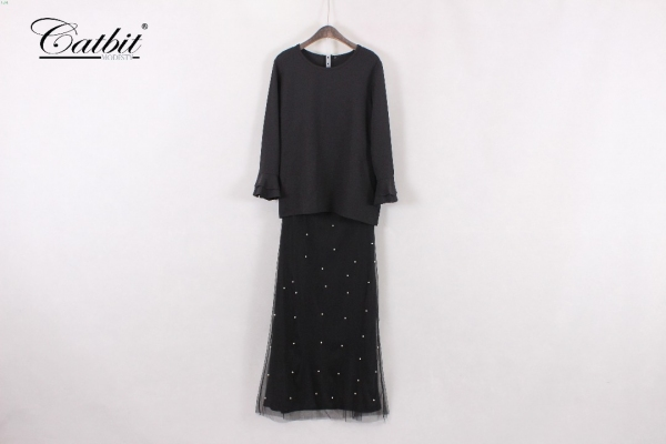 MEDINA KURUNG MODEN MIDNIGHT BLACK