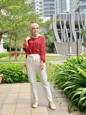 X9076 CHECKER BLOUSE