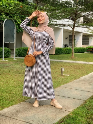 Y0211 INARA PLAID DRESS