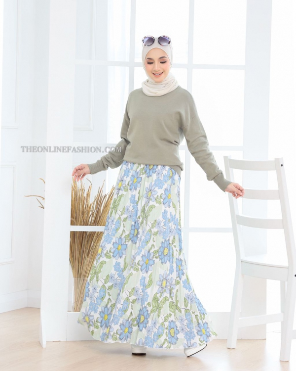 SUNNY FLORAL PLEATED SKIRT (Y0285)