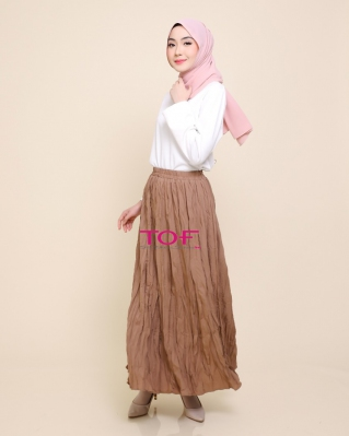 1818-1 MIE MIE SKIRT IN BROWN MILO