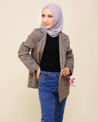 1717 -AUTUMN OVERSIZE BLAZER IN KHAKIS BROWN