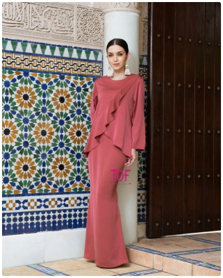 SOPHIA KURUNG - IN BLUSH RED