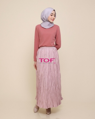 1818-1 MIE MIE SKIRT IN DUSTY PINK