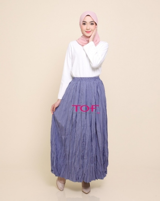 1818-1 MIE MIE SKIRT IN GREYISH BLUE