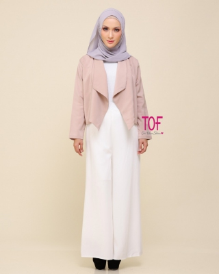 301 MOLY MINI COAT IN DUSTY PINK
